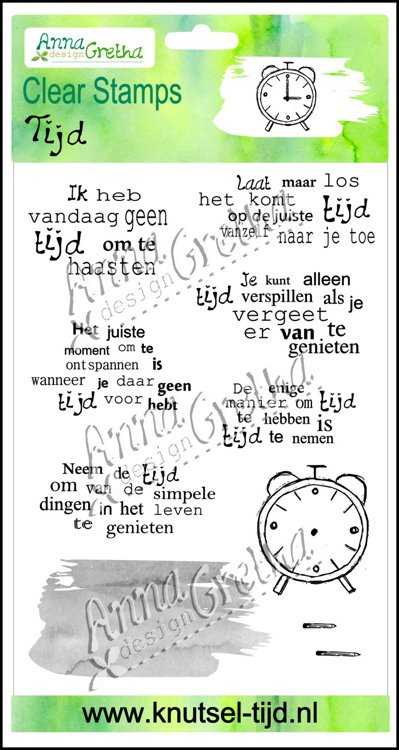 Anna Gretha Design - Clearstamp - Tijd - 2210183
