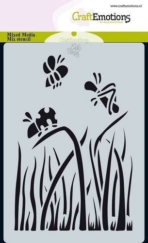 CraftEmotions - Maskingstencil - Bugs - gras  - 185070/0111
