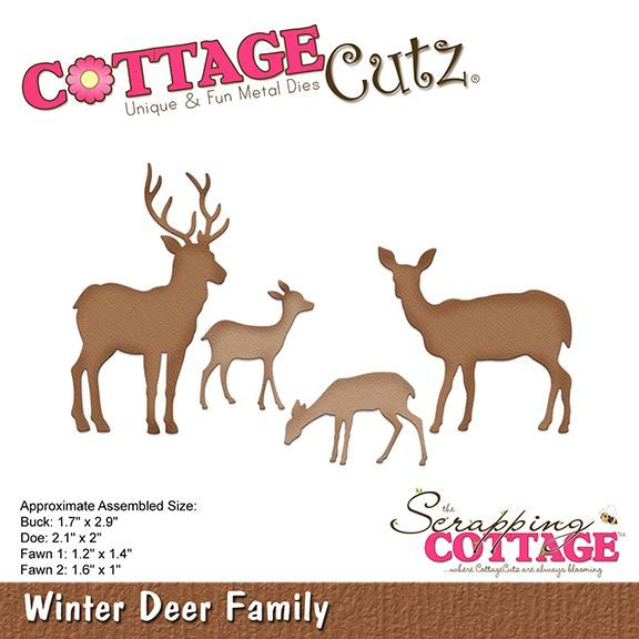 Cottage Cutz - Die - Winter Deer Family - CC-376