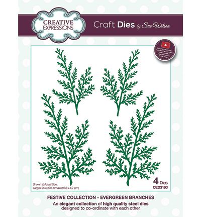 Creative Expressions - Die - The Festive Collection - Evergreen Branches - CED3193