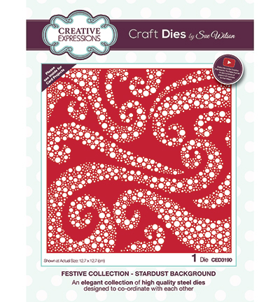 Creative Expressions - Die - The Festive Collection - Stardust background - CED3190