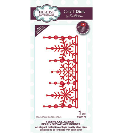 Creative Expressions - Die - The Festive Collection - Pearly Snowflake Border - CED3178