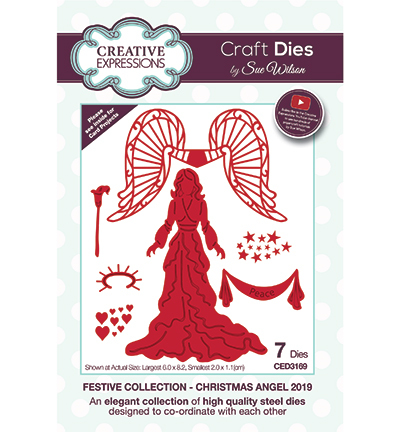 Creative Expressions - Die - The Festive Collection - Christmas Angel 2019 - CED3169