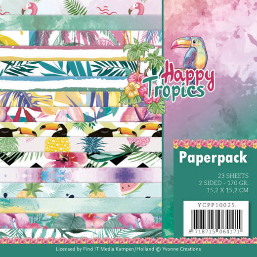 Yvonne Creations - Paperpack - Happy Tropics - YCPP10025