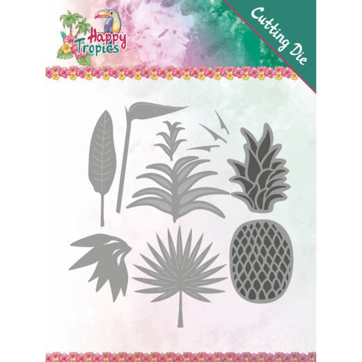 Yvonne Creations - Die - Happy Tropics - Lush Leave - YCD10173