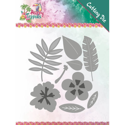 Yvonne Creations - Die - Happy Tropics - Tropical Blooms - YCD10174