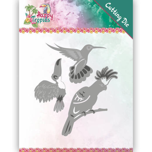 Yvonne Creations - Die - Happy Tropics - Exotic Bird - YCD10175