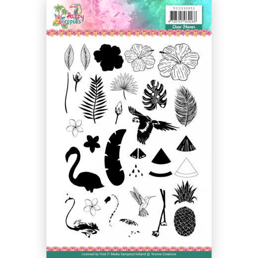 Yvonne Creations - Clearstamp - Happy Tropics - YCCS10051