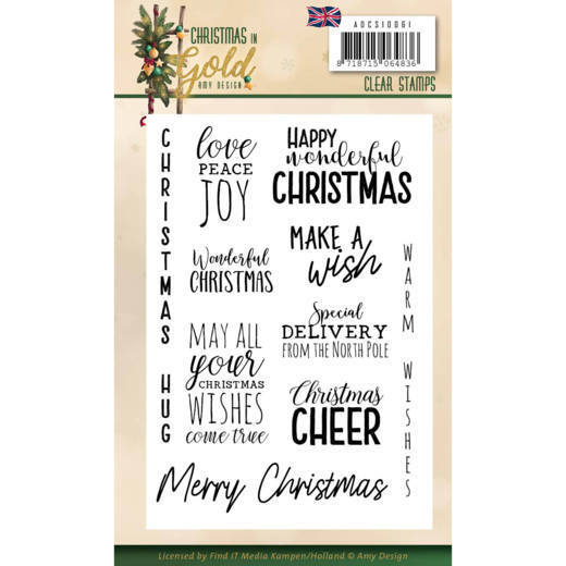 Amy Design - Clearstamp - Christmas in Gold - ADCS10061