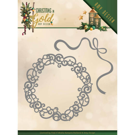 Amy Design - Die - Christmas in Gold - Christmas Wreath - ADD10181