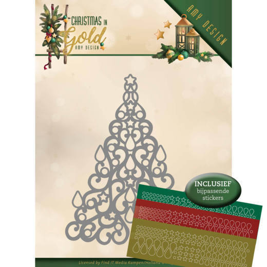 Amy Design - Die - Christmas in Gold - Christmas Tree Hobbydots - ADD10182