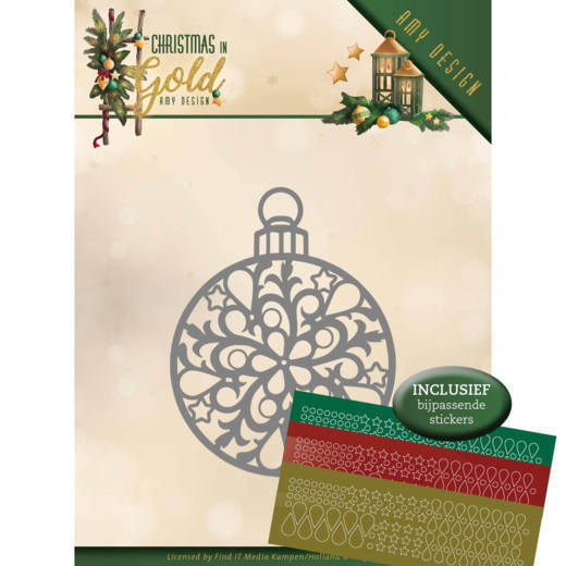 Amy Design - Die - Christmas in Gold - Christmas Bauble Hobbydots - ADD10183