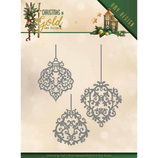 Amy Design - Die - Christmas in Gold - Golden ornaments - ADD10184