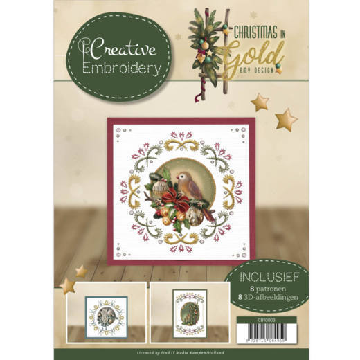 Amy Design - Creative Embroidery 3 - Christmas in gold - CB10003