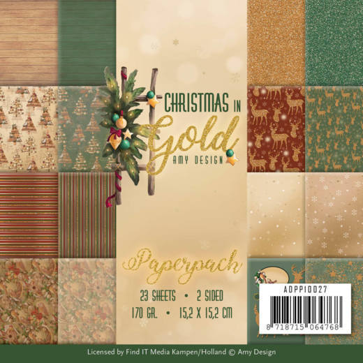 Amy Design - Paperpack - Christmas in Gold - ADPP10027