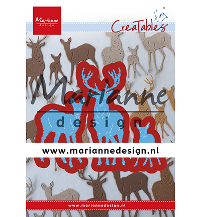 Marianne Design - Die - CreaTables - Tiny`s deer family - LR0615