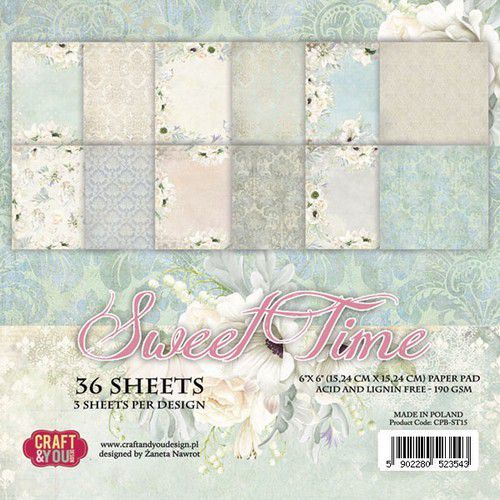 Craft & You Design - Paperpack - 152 x 152mm - Sweet Time - CPB-ST15