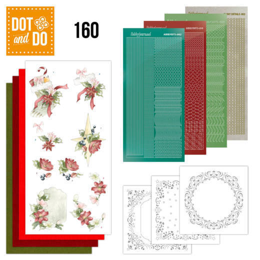 Card Deco - Kaartenpakketten - Dot & Do - No. 160 - Red Christmas Ornaments - DODO160