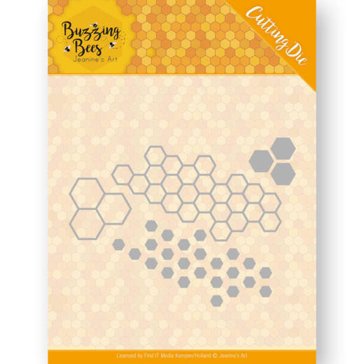Jeanine`s Art - Die - Buzzing Bees - Hexagon Set - JAD10074