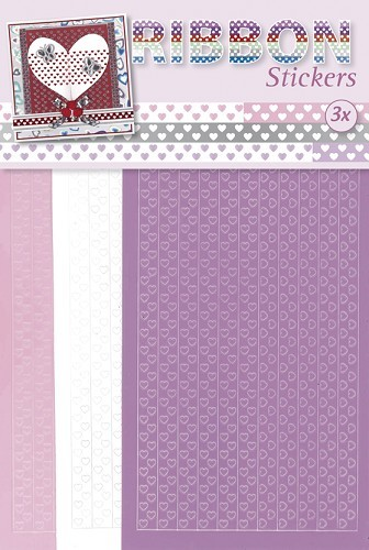 JEJE - Ribbon Stickers - Hearts: pastel - 3.9871