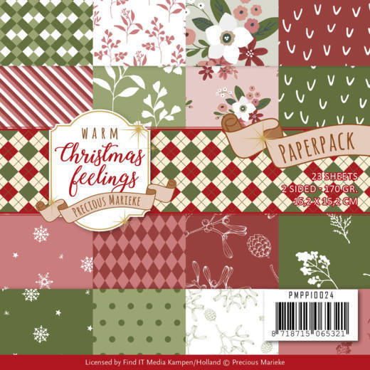 Precious Marieke - Paperpack - Warm Christmas Feelings - PMPP10024