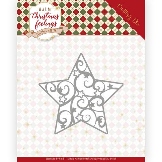 Precious Marieke - Die - Warm Christmas Feelings - Swirl Star - PM10163