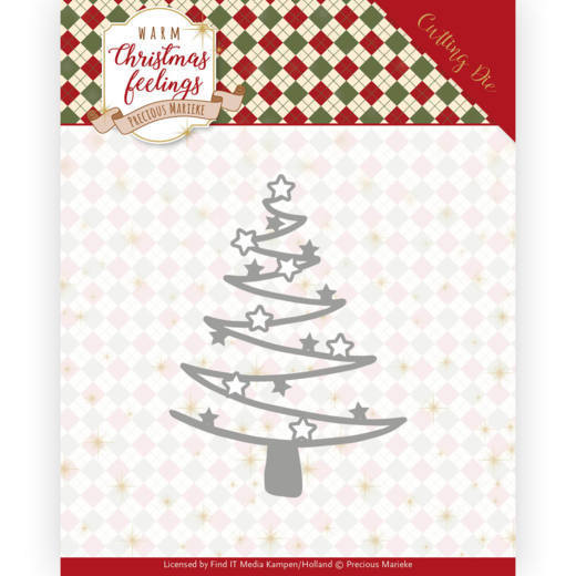 Precious Marieke - Die - Warm Christmas Feelings - Star Tree - PM10164