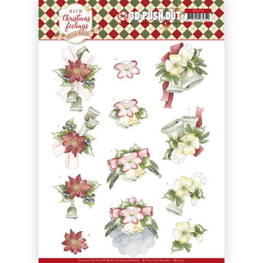 Precious Marieke - Uitdrukvel A4 - Warm Christmas Feelings - Christmas Bells - SB10375