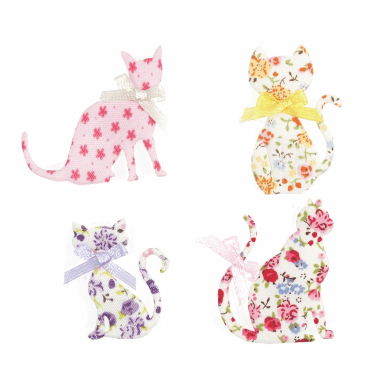 Craft for Occasions - Embellishments - Floral Cats - C2274