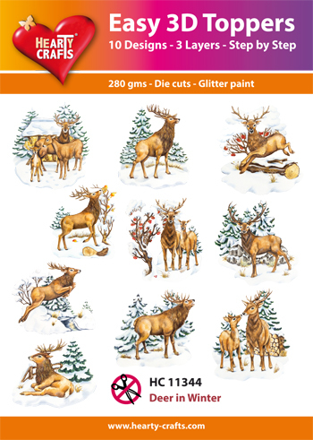 Hearty Crafts - Easy 3D Toppers - Deer in Winter - HC11344