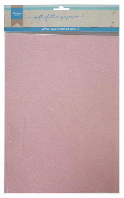 Marianne Design - Soft glitter paper: Light pink - CA3148