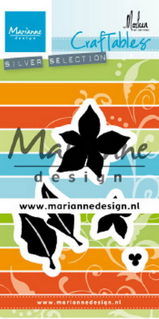 Marianne Design - Die - Craftables - Poinsettia by Marleen - CR1478