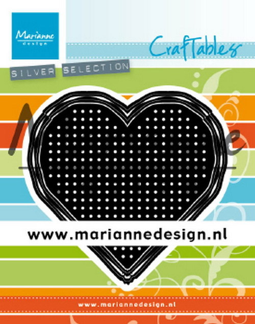 Marianne Design - Die - Craftables - Cross stitch - Heart - CR1482