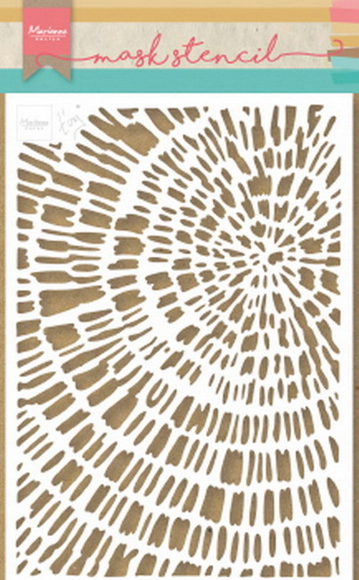 Marianne Design - Maskingstencil - Tiny's sliced wood - PS8040