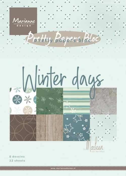 Marianne Design - Paperpack - Pretty Papers - Winter days by Marleen - PK9164