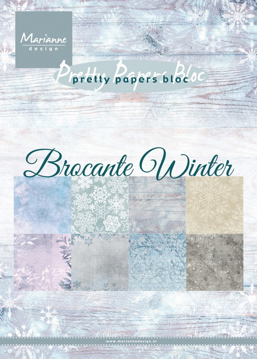 Marianne Design - Paperpack - Pretty Papers - Brocante Winter - PK9165