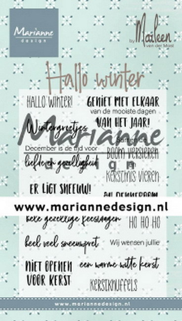 Marianne Design - Clearstamp - Hallo winter by Marleen - CS1036