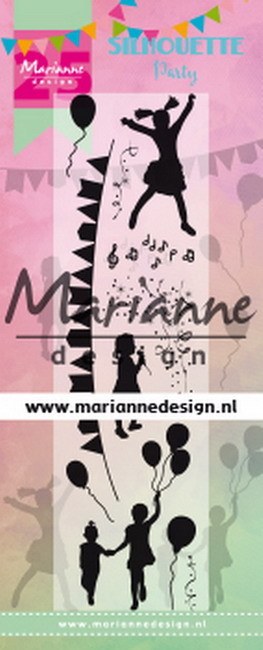 Marianne Design - Clearstamp - Silhouette party - CS1038