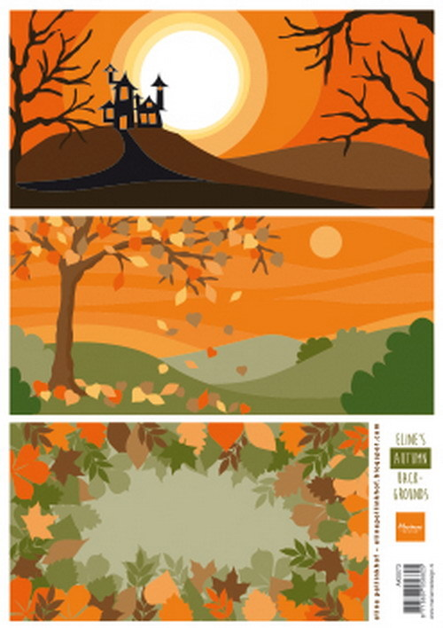 Marianne Design - Eline Pellinkhof - 3D-knipvel A4 - Eline's autumn backgrounds - AK0073