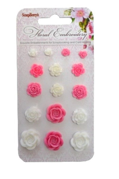 ScrapBerry`s - Embellishments - Floral Embroidery - Roses - SCB25002021