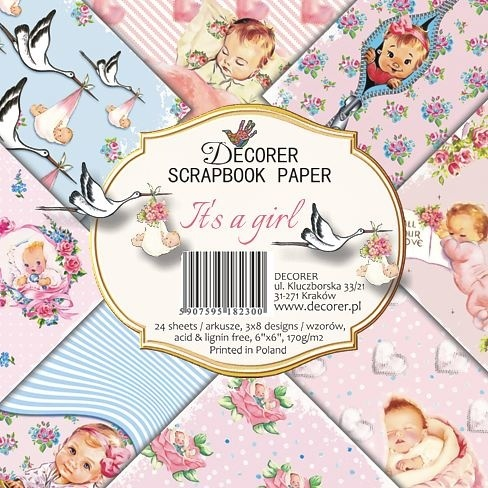 Decorer - Paperpack - 152 x 152mm - It's a girl - C27-230