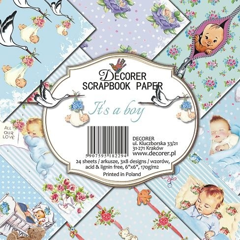 Decorer - Paperpack - 152 x 152mm - It's a boy - C26-229