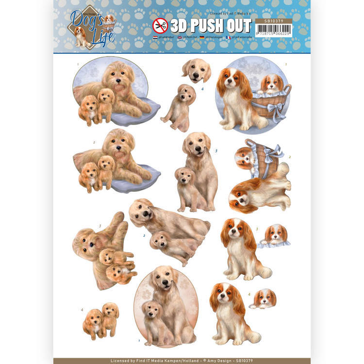 Amy Design - Uitdrukvel A4 - Dog`s Life - Dog Mommy - SB10379