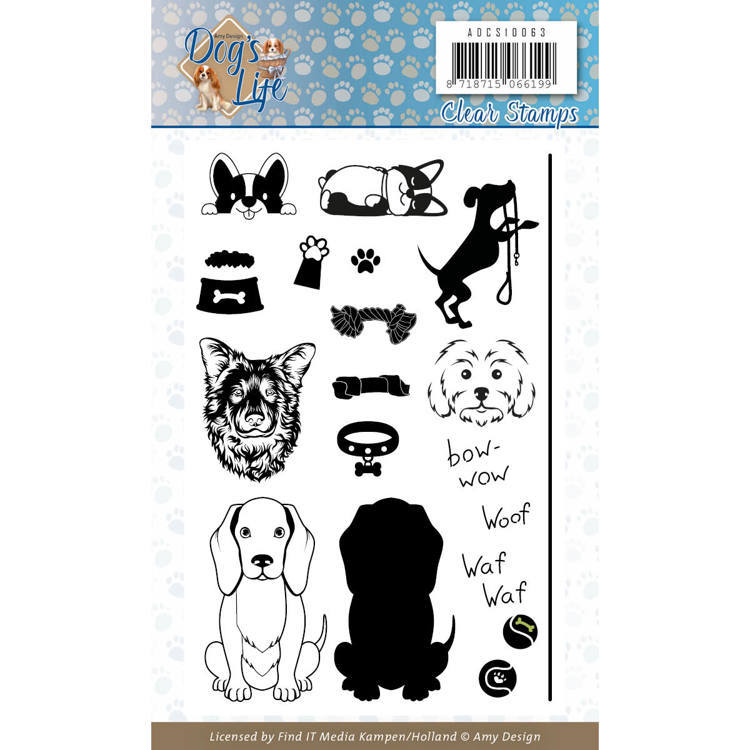 Amy Design - Clearstamp - Dog`s Life - ADCS10063