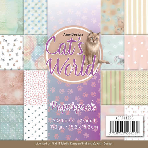 Amy Design - Paperpack - Cat`s World - ADPP10029