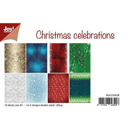 Joy! crafts - Paperset - Christmas celebrations - 6011/0628