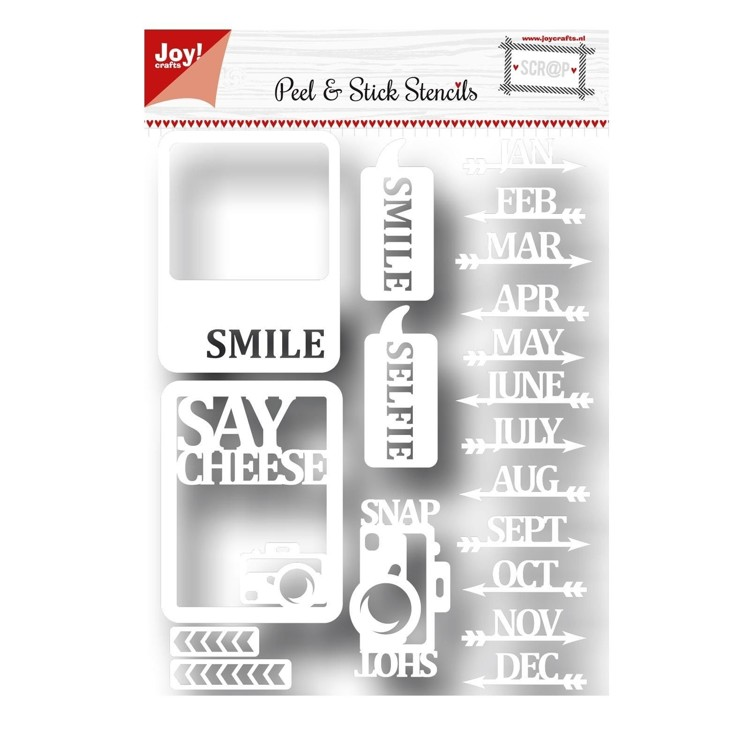 Joy!crafts - Peel & Stick Stencils - 6002/5002
