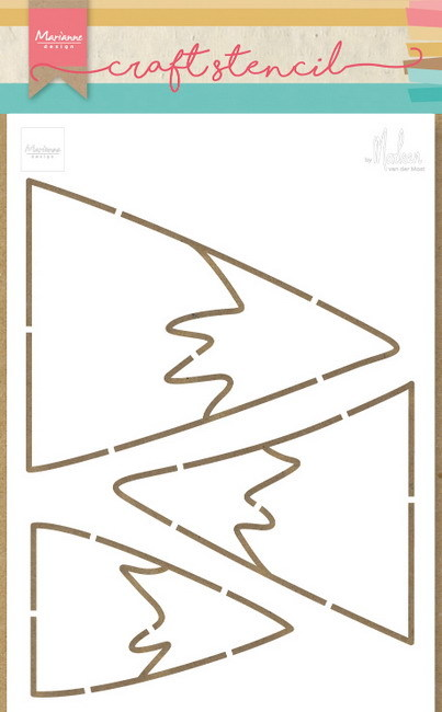 Marianne Design - Craft Stencil - Mountains - PS8045