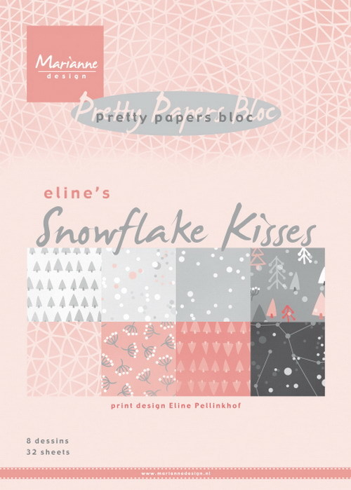 Marianne Design - Paperpack - Pretty Papers - Eline`s Snowflake Kisses - PB7057