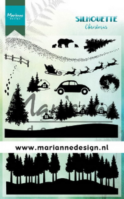 Marianne Design - Clearstamp - Silhouette - Christmas - CS1040
